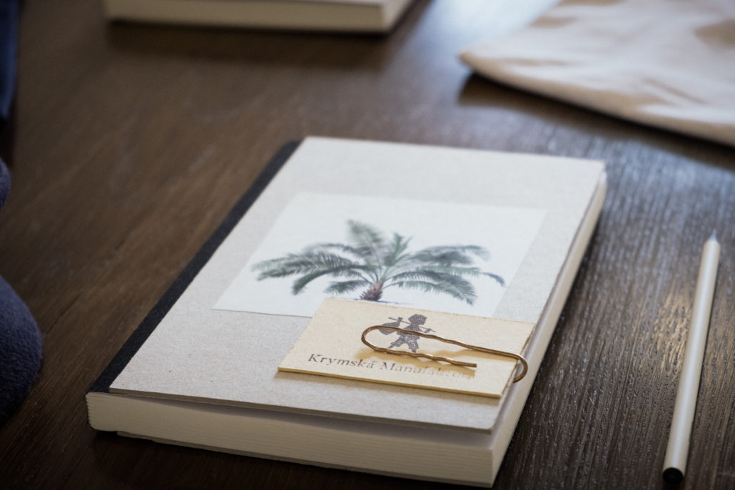 Krymská Notebook with Palm Tree motif